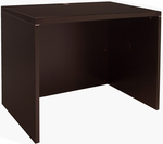 "Modern Office Structures Mocha 36""W Lowered Desk Shell"