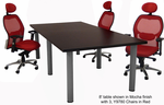 Modular Conference Tables in Mocha, Maple, White, Black, or Driftwood - 8' Length - See Other Sizes