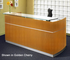 Napoli Reception Desk with Floating Glass Transaction Counter