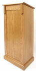 Oak Veneer Full Pedestal Lectern w/ Decorative Trim