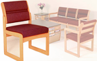 Oak Reception Chair Value Series - Armless Chair