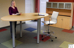 Oval Standing Height Conference Tables-8' Length