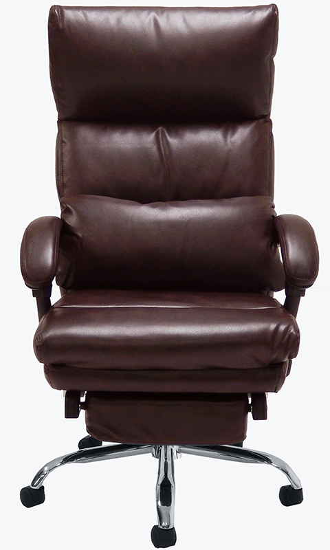 office chairs pillow top leather office recliner w footrest
