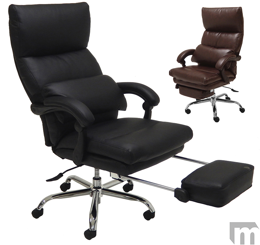 Pillow Top Leather Office Recliner wFootrest : pillow top leather office recliner w footrest 72 <strong>Reclining Camping</strong> Chairs with Footrest from modernofficefurniture.com size 849 x 800 jpeg 218kB