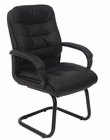 PlushTuft Leather Reception Chair