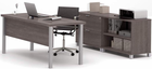 Pro Linear Metal Leg Modular Office Desk Series � Executive Desk Set