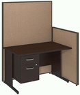 """ProPanel Complete Cubicle Packages - 48""""W Cubicle with Desk with File"""