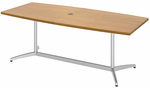 Quickship Modern Boat Shaped Conference Tables  - 6' Table