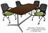 Quickship Modern Boat Shaped Conference Tables  - 6' Table - See Other Sizes