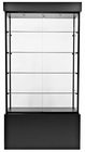 "78""H Rectangular Wall Showcase w/Casters"