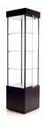 "78""H Square Tower Display Case w/Casters"
