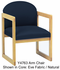 Radius-Back Reception Seating - Arm Chair