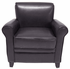 Rolled Arm Leather Club Chair