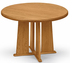 Solid Oak Round Conference Tables