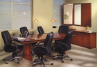 Sorrento Bourbon Cherry Rectangular Conference Tables from 6′ - 30′