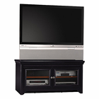 "Stanford Antique Black 60"" Flat Panel Video Base"