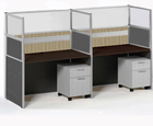 "Sync Custom Cubicles � 57""H 2-Person Workstation"