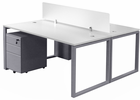 TrendSpaces 2-Person Basic Benching Workstation