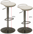 White Adjustable Height Padded Footring Stool