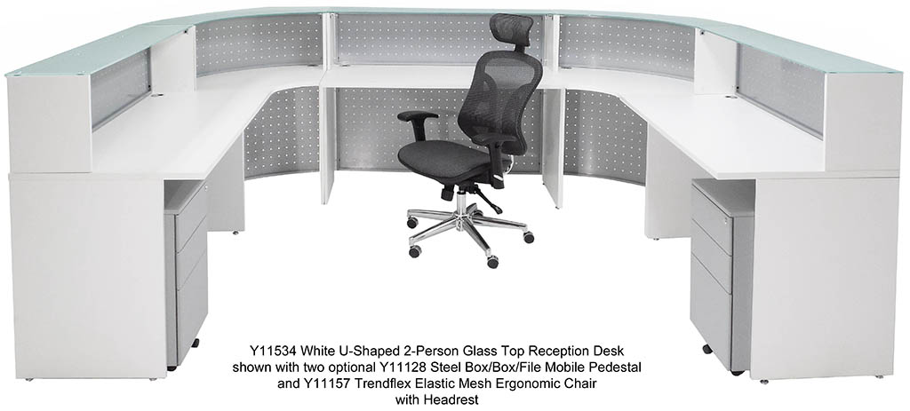 U Shaped Office Desk For Two Magnificent Traditional