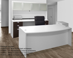 White & Woodgrain 4-Piece Office Furniture Package