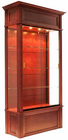 "82""H Wood Veneer Traditional Display Case"