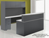 Wrap-Around Custom Reception Desk w/ Left Bridge, 72