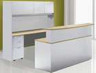Wrap-Around Custom Reception Desk in 2 Sizes - Left Bridge, Standard Size