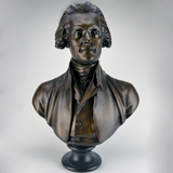 "28"" Bronze Finish Jefferson Bust"