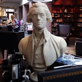 "28"" White Jefferson Bust"