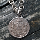 Antiqued Silver Cable Necklace