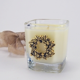 Aspen Gold Wreath Glass Votive