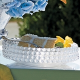 Beaded Glass Dessert Plates (Set of Four)