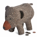 Bear Felt Animal Bank