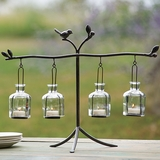 Bird on Branch Hanging Tea Light Stand