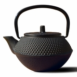 Black Cast-Iron Teapot