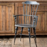 Black Metal Windsor-Style Chair