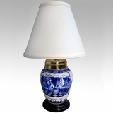 Blue Birth Jar Lamp