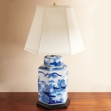 Blue Canton Lamp