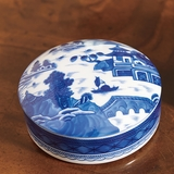 Blue Canton Round Box