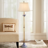 Blue & White Floor Lamp
