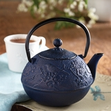 Bluebird Cast-Iron Teapot