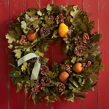 Brandied-Pear Scented Maple Leaf Wreath