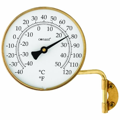 Brass Outdoor Thermometer