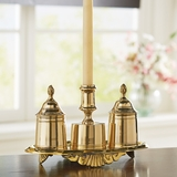 Brass Writing Stand with Candle Holder