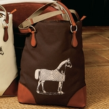 Brown Equestrian Tote