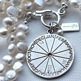 Calendar Wheel Necklace