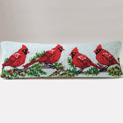 Cardinal Winterberry Pillow