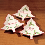 Christmas Tree Snack Plates