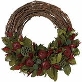 Country Pomegranate Wreath
